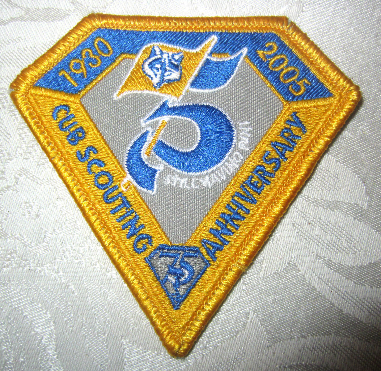 Bsa Boy Scout Uniform Patch Yellow And Blue Cub