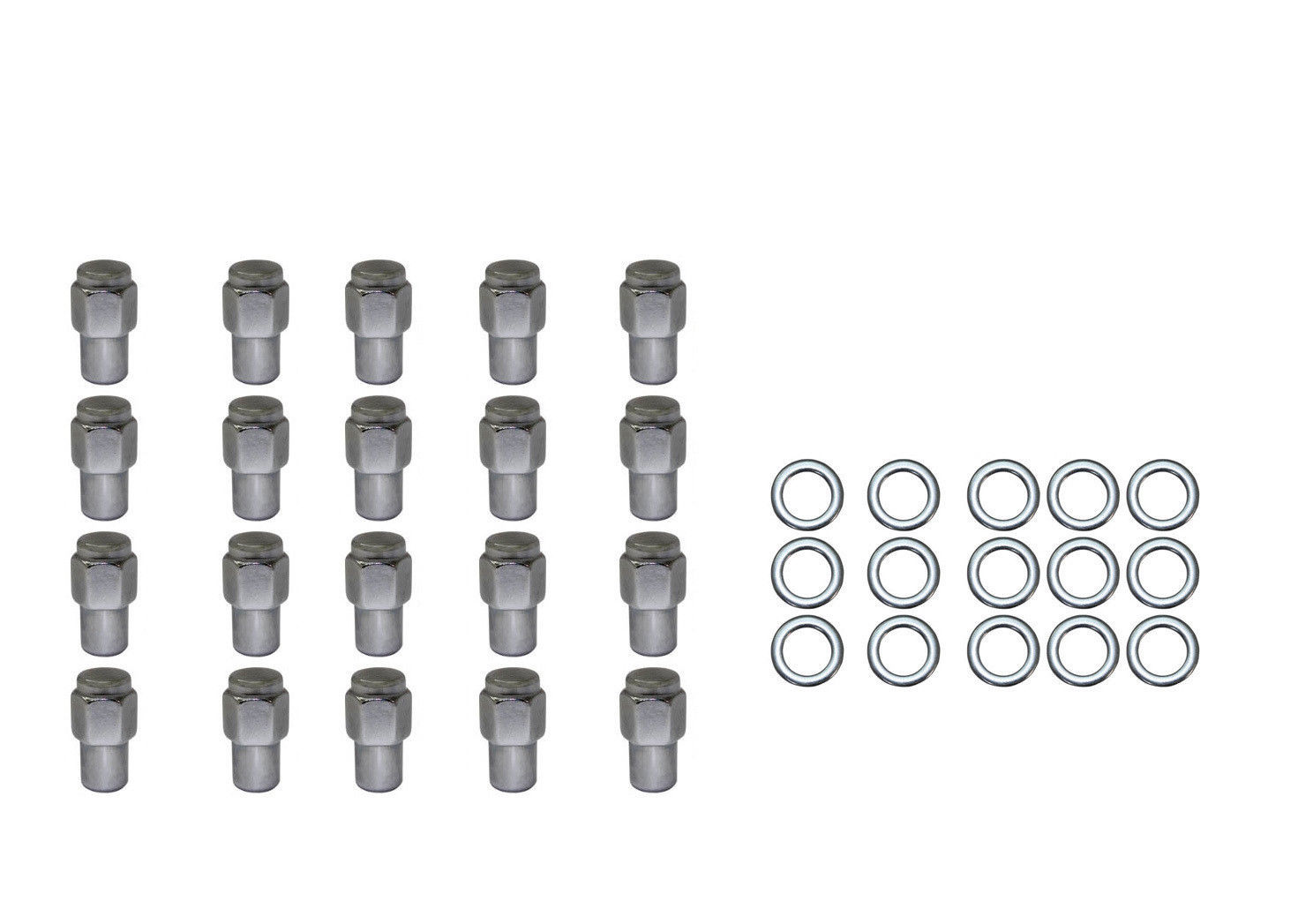 20pc Set Chrome Steel Mag Shank Lug Nuts 12mmx1 25 For