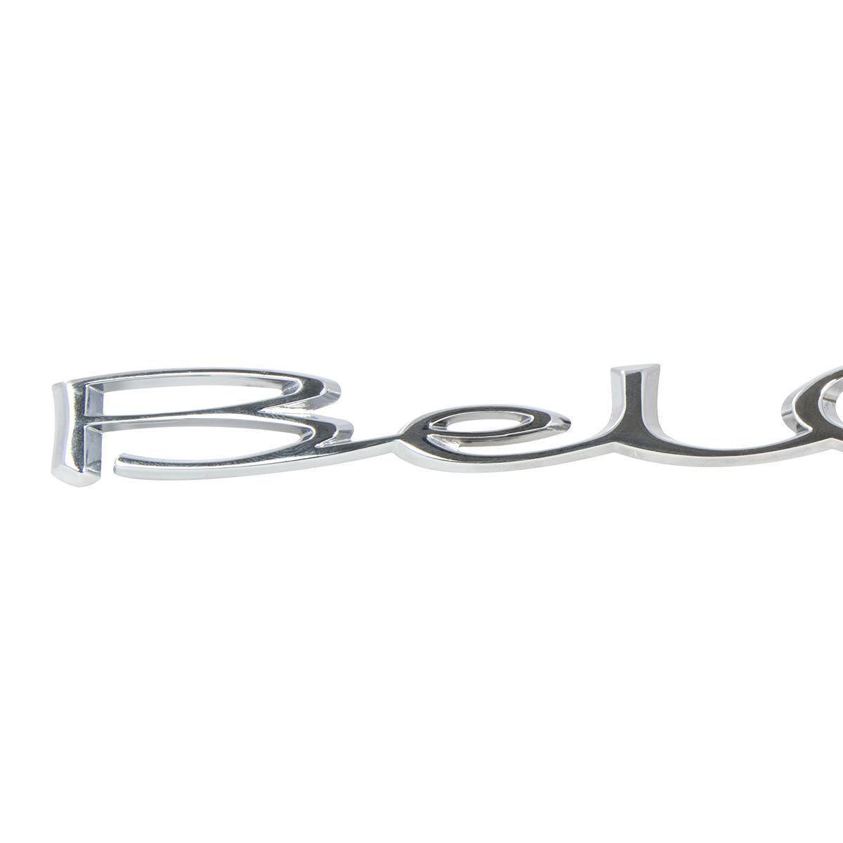 Chevy Bel Air Rear Quarter Panel Script Emblem