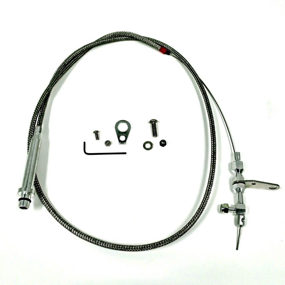 Th350 57 Braided Stainless Steel Kick Down Cable Sbc Bbc