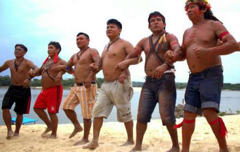 The Munduruku Indians have been firmly protesting a series of dams on the Tapajós river.
