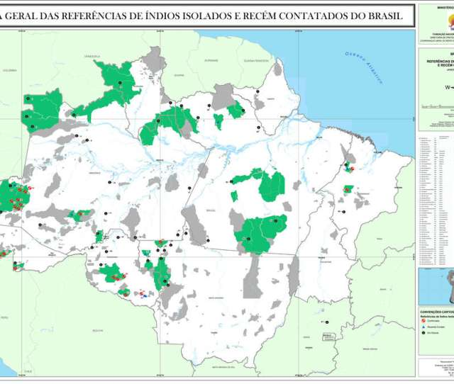 Brazilian Government Agency For Tribal Peoples Funai Produced This Map Of Areas Colored