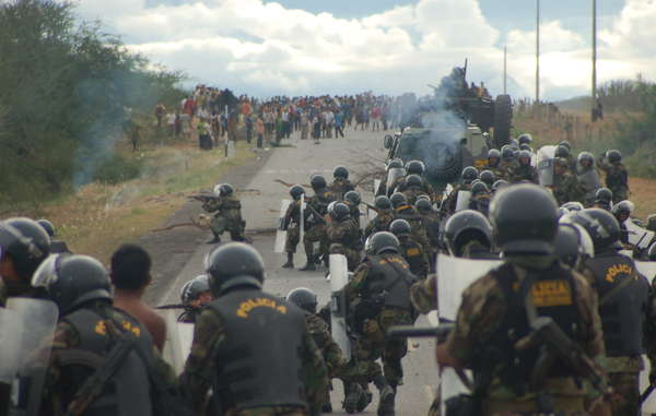 """Police attack protesters on June 5th 2009"""