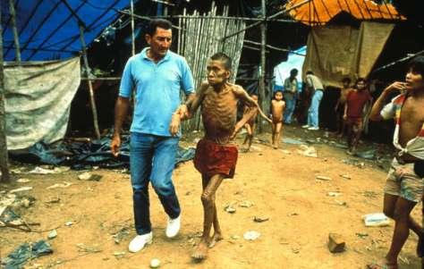 Previous disease outbreaks killed 20% of the Yanomami in Brazil.