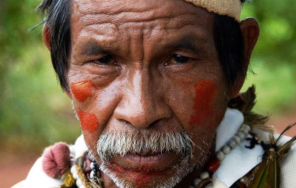 Los Guarani han protestado en contra  de las actividades de Raízen en su territorio © Fiona Watson / Survival