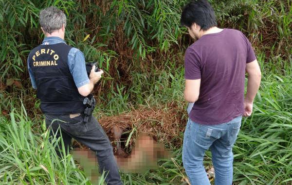Die Leiche der Guarani-Sprecherin Marinalva Manoel wurde im Straßengraben gefunden.
