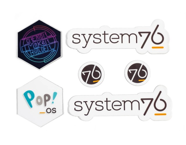 System76 Pop!_OS Stickers