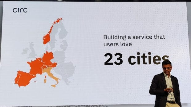 Circ e-scooter: active in 23 cities. (Photo: t3n)