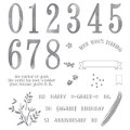 Number Of Years Photopolymer Stamp Set
