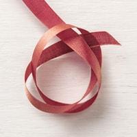 "Merry Merlot & Copper 5/8"" (1.6 Cm) Reversible Ribbon"