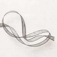 "Black 5/8"" (1.6 Cm) Glittered Organdy Ribbon"