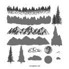Mountain Air Photopolymer Stamp Set