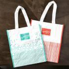 Calypso Coral & Coastal Cabana Reusable Shopping Bags