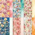"Fine Art Floral 12"" X 12"" (30.5 X 30.5 Cm) Designer Series Paper"