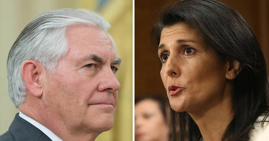 Image result for Nikki Haley and Rex Tillerson