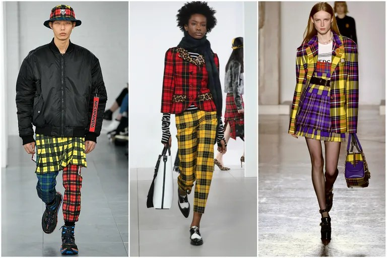 Yellow Plaid Popped Up On The Fall  Runways In Every Iteration From Pants At
