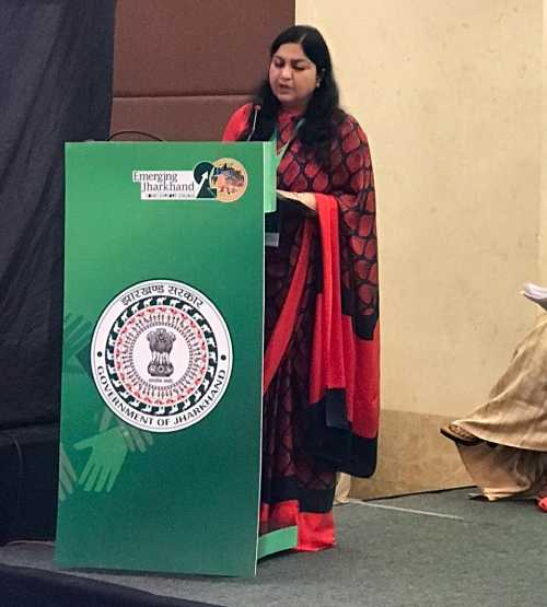 Industries secretary Pooja Singhal briefs delegates about the new policy.