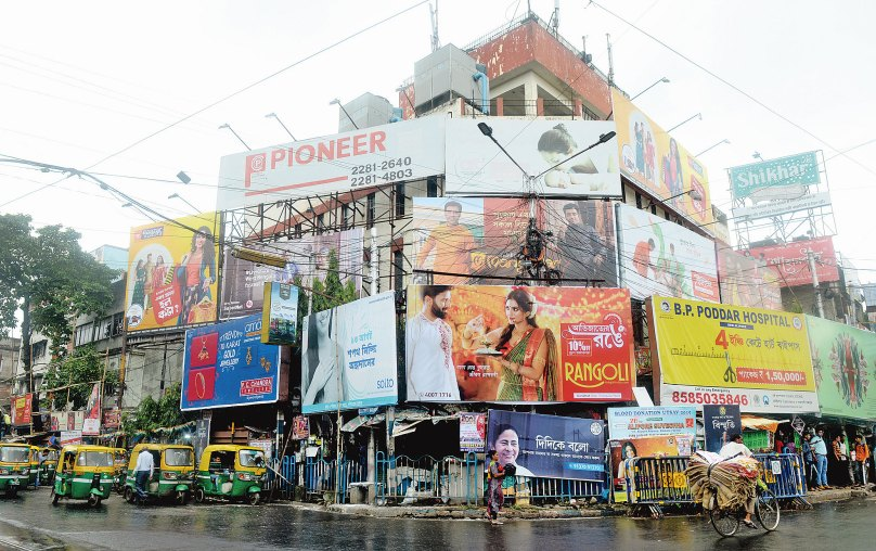 Calcutta learns no lesson from Chennai, hoardings boom - Telegraph India