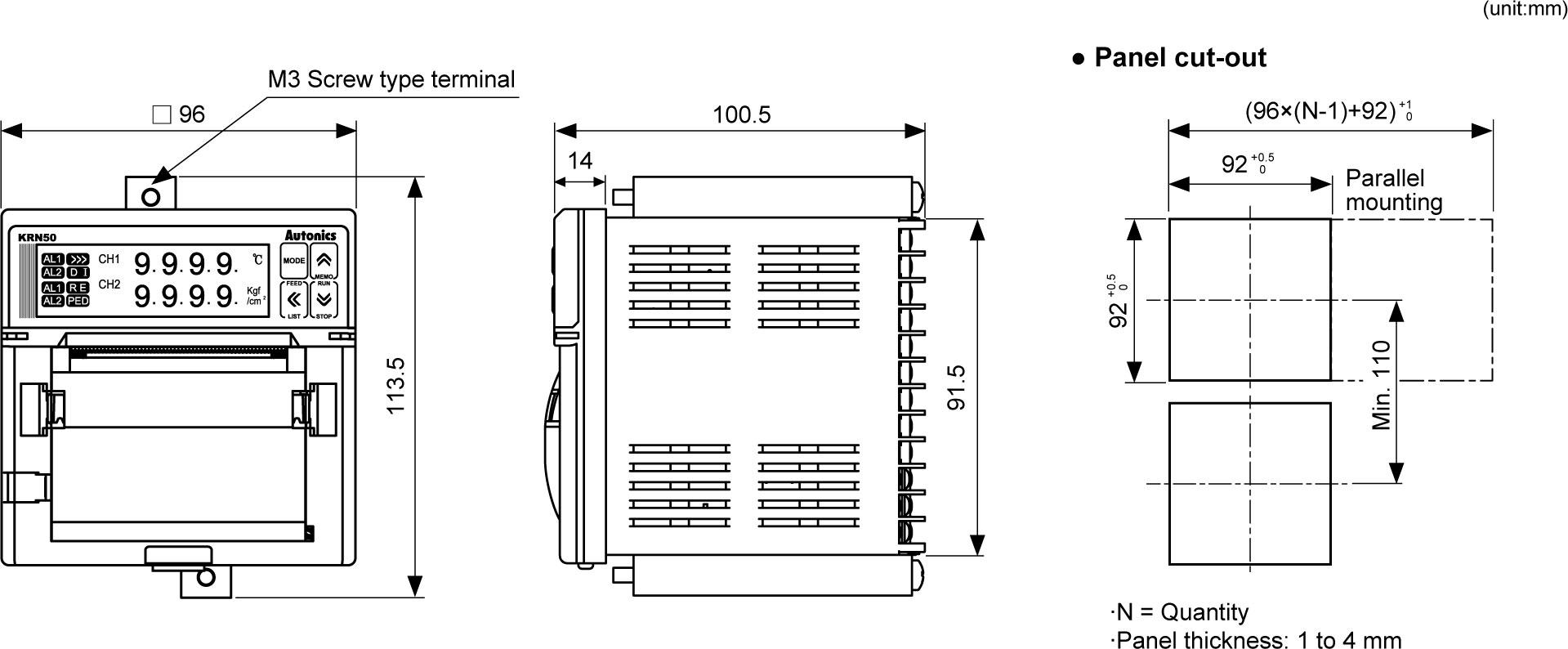 Autonics Krn50 Data Recorders