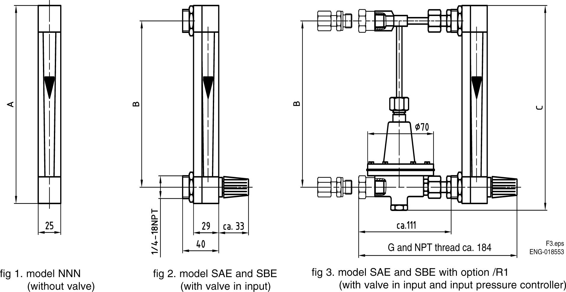 Yokogawa Ragk41 Variable Area Flowmeter Glass Tube