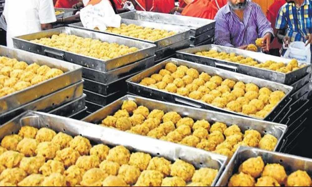 2.4Lakhs Laddus Sold In 3Hours In Telugu States