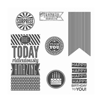 Amazing Birthday Wood-Mount Stamp Set