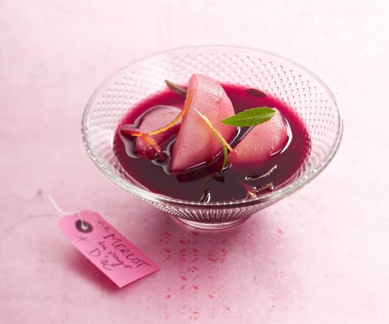 soupe de poire au vin rouge