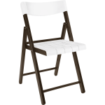 Potenza Chair With Tobacco Tauari Wood And White Plastic Tramontina