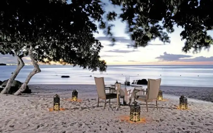 The Oberoi resort - enjoy a private romantic dinner with your loved one