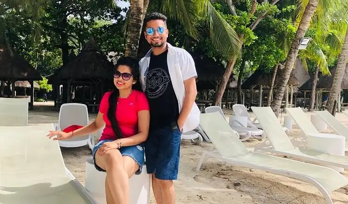 our honeymoon in Mauritius