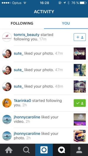 Activity on iOS by Instagram from UIGarage