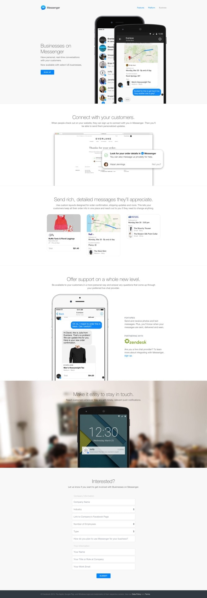 Landing Page on iOS by Messenger from UIGarage