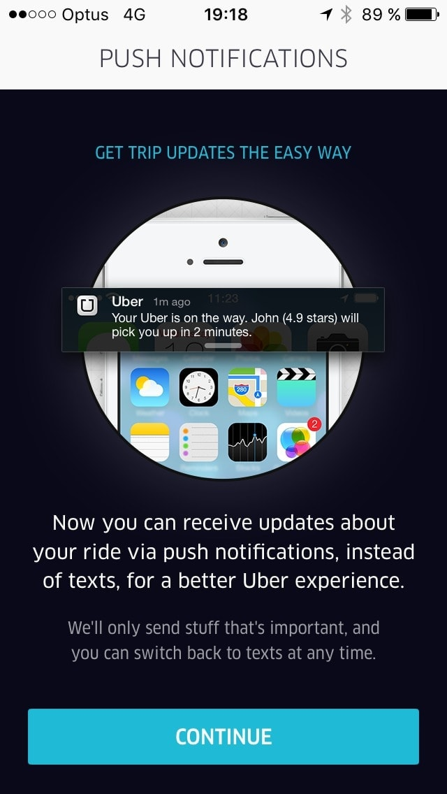 Ask Permission on iOS by Uber from UIGarage