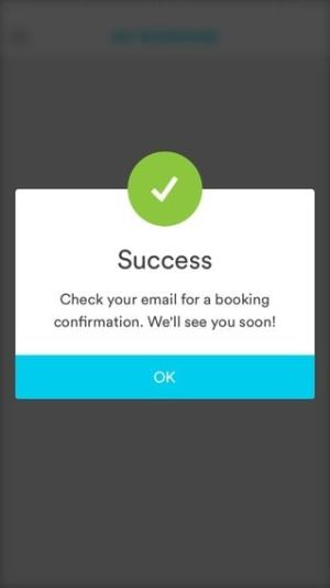 Success screen on iOS by Handy from UIGarage