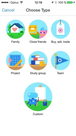 Categories screen on iOS by Facebook Groups from UIGarage