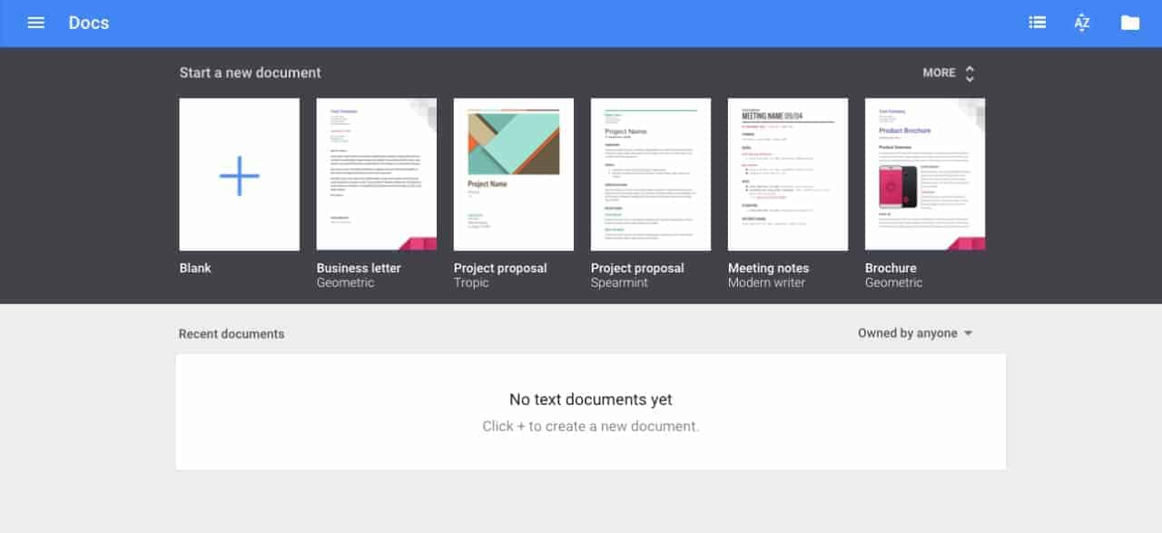 Create view by Google Docs from UIGarage