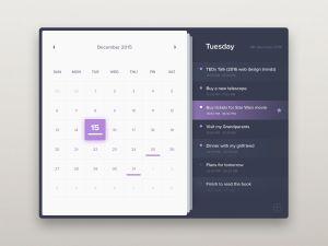 Calendar view by Sergiu Radu from UIGarage