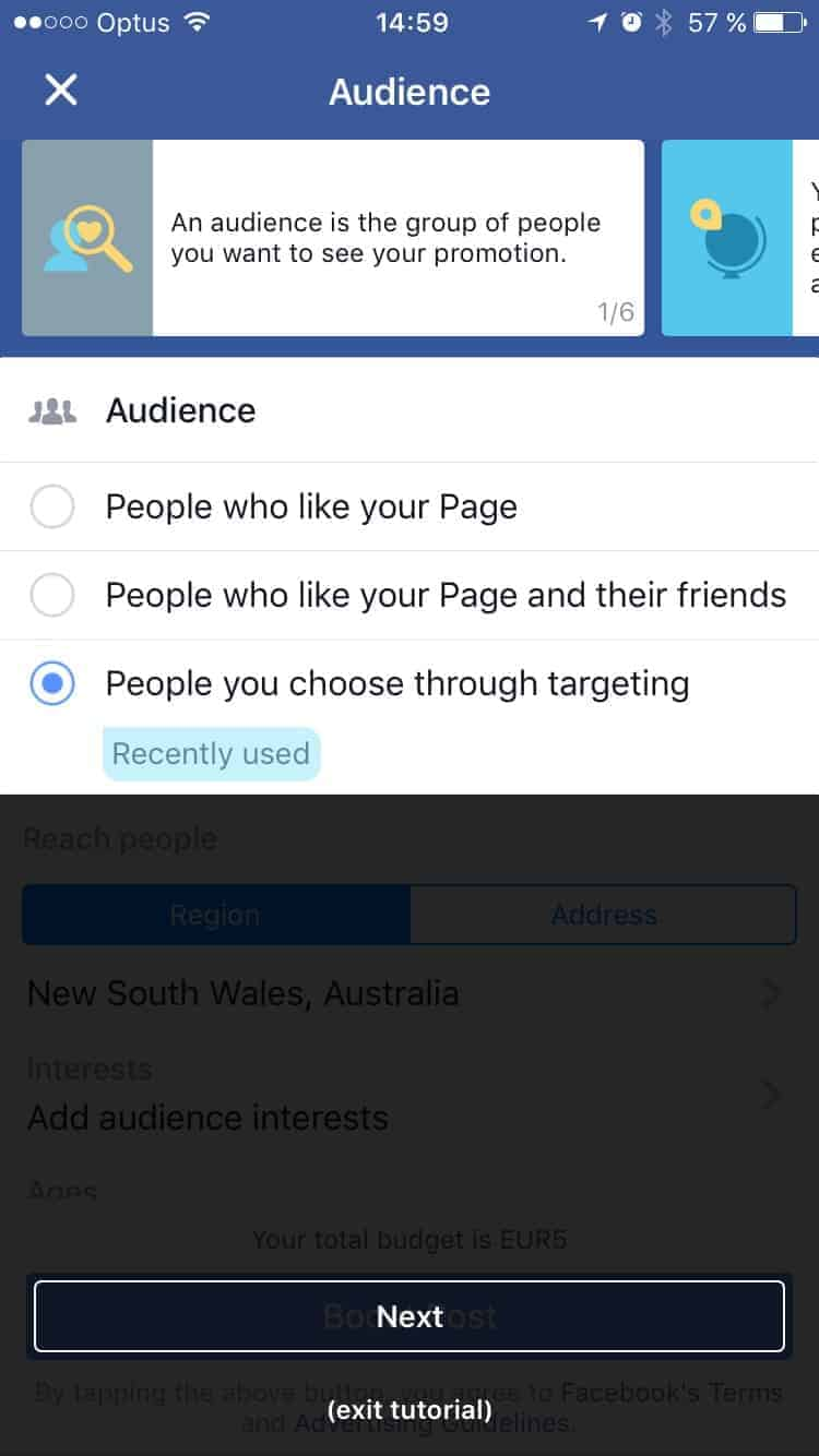 Walkthrough on iOS by Facebook Audience from UIGarage