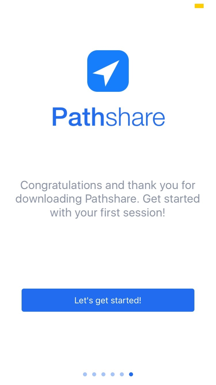 Onboarding on iOS by Pathshare from UIGarage