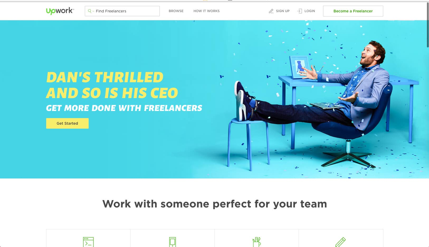 Advertising by Upwork from UIGarage