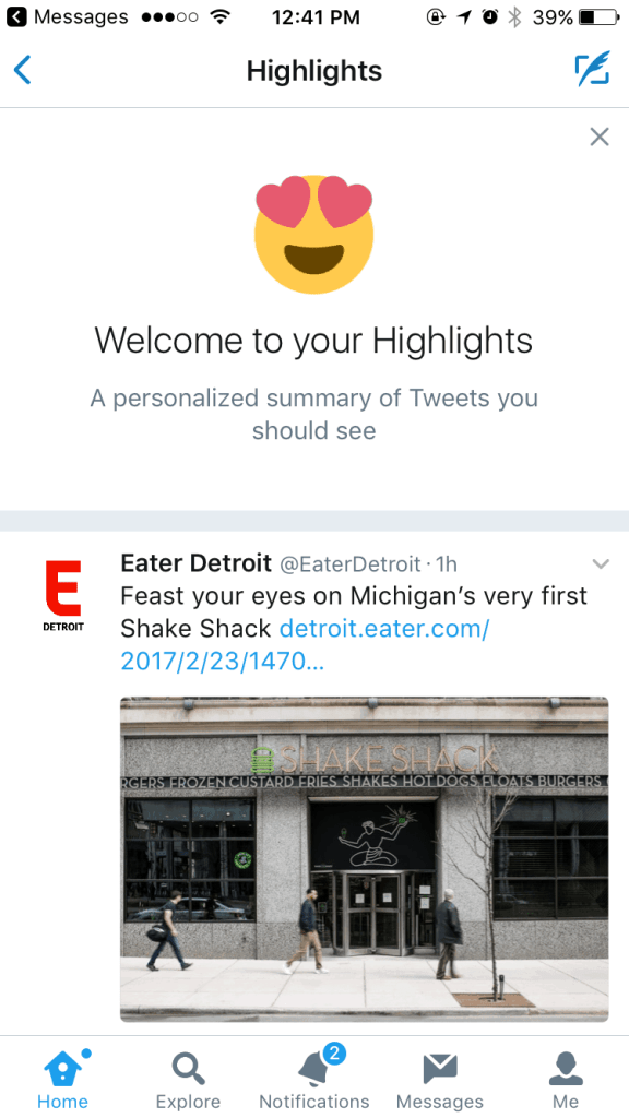 Highlights on iOS by Twitter from UIGarage