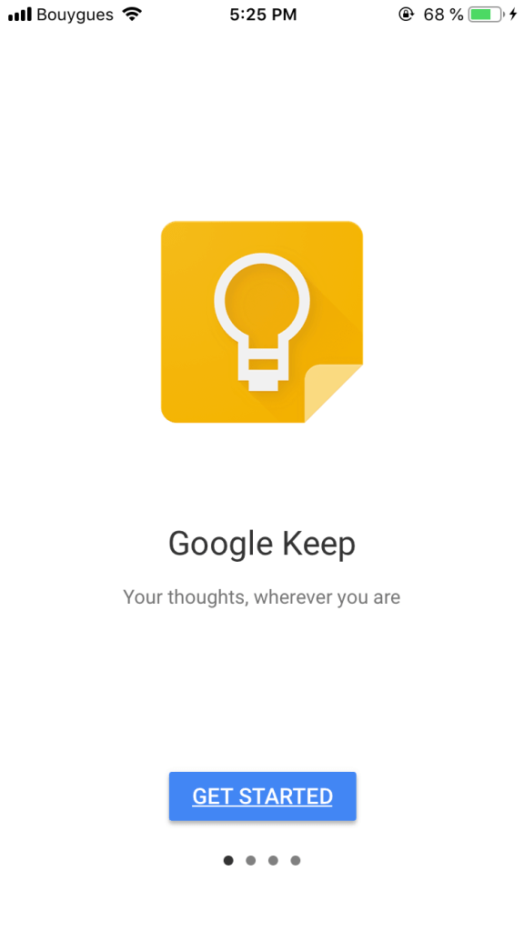 Walkthrough on iOS by Google Keep from UIGarage