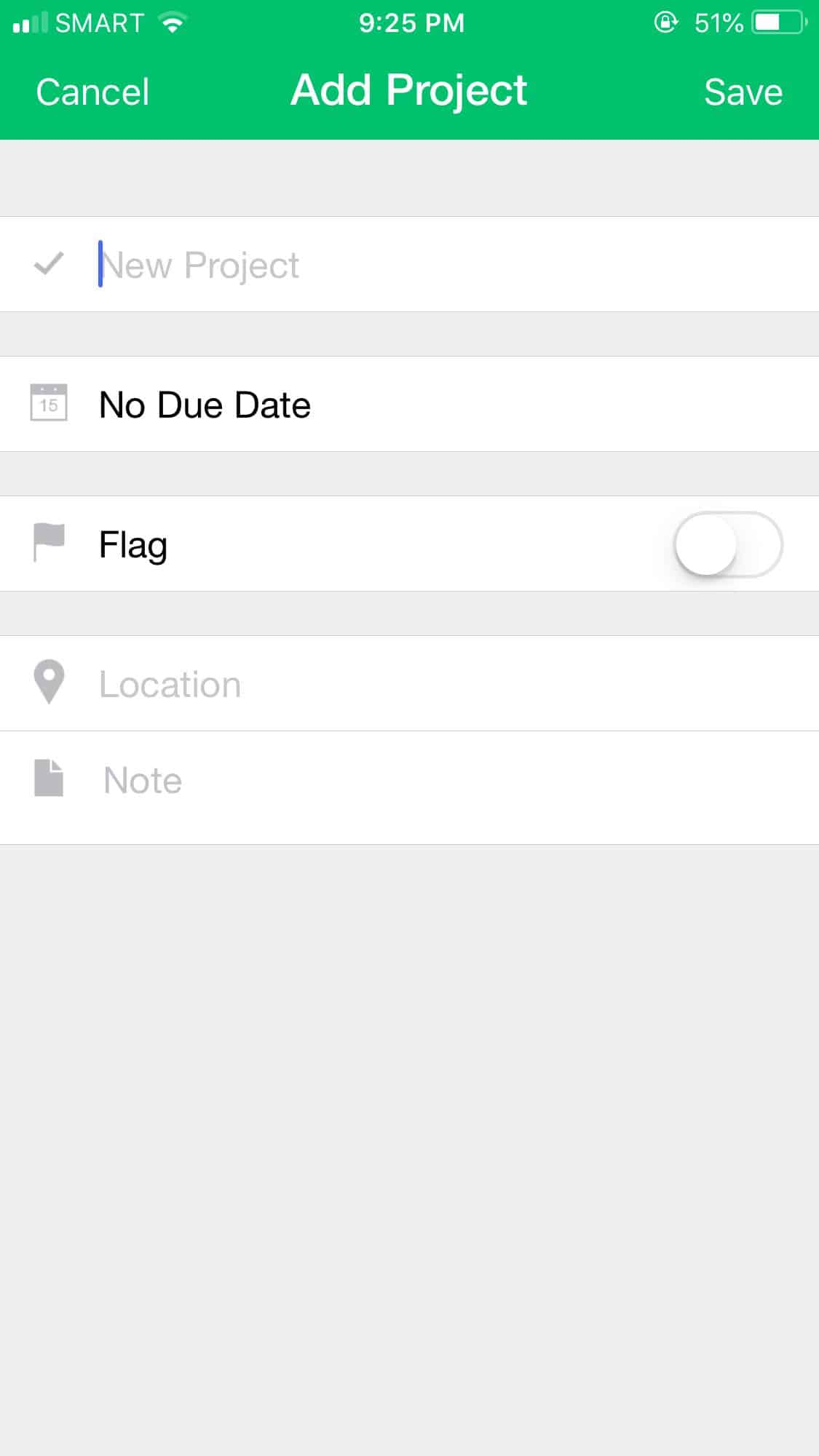 Add Project on iOS by Pocket Schedule from UIGarage