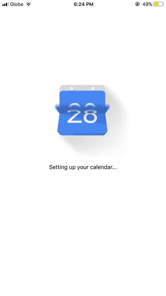 Loading on iOS by Google Calendar from UIGarage