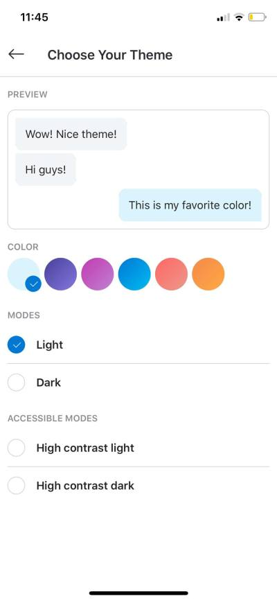 Choose Your Theme on iOS by Skype from UIGarage