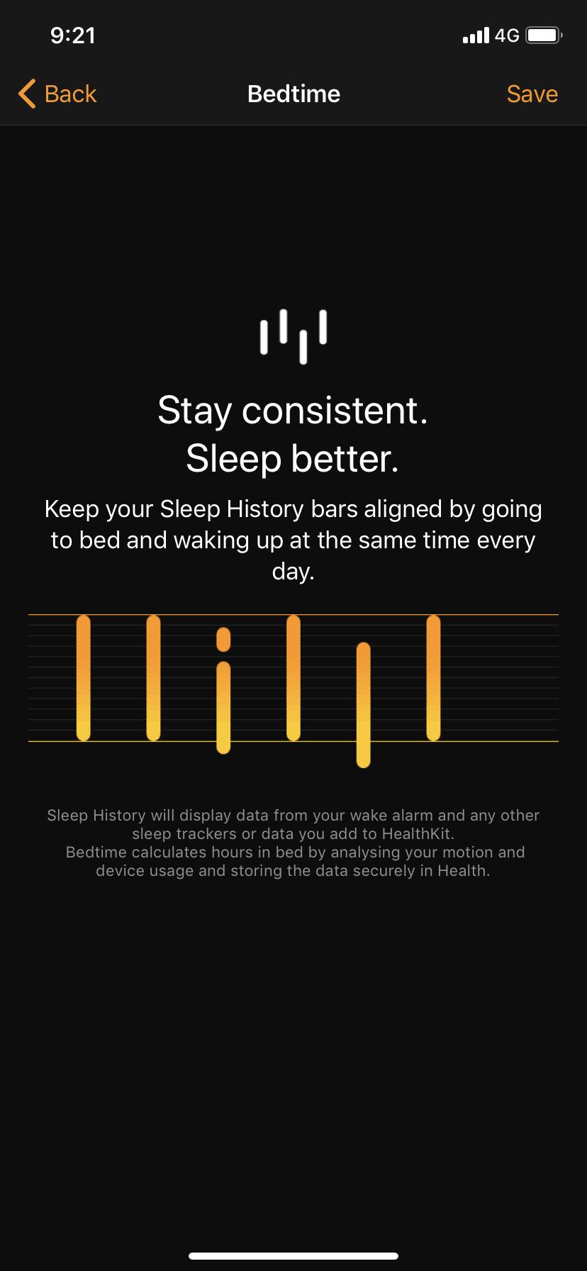 Sleep History on iOS by Apple Alarm from UIGarage