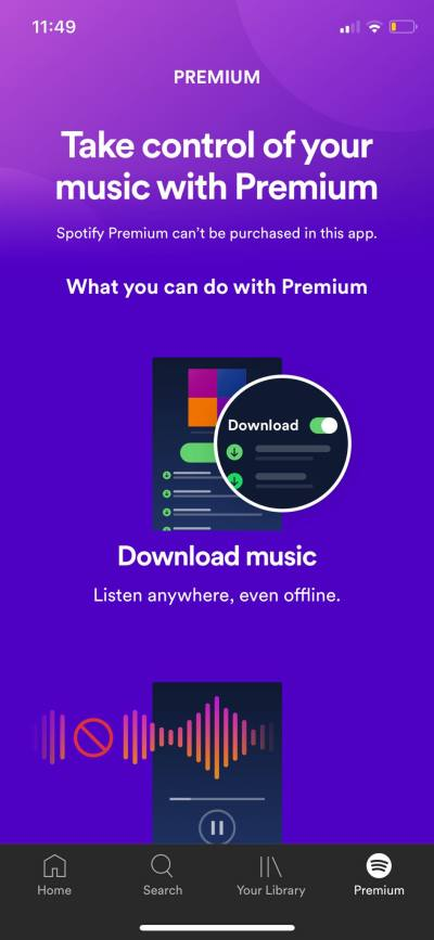 Premium on iOS by Spotify from UIGarage