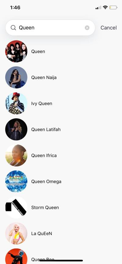 Search on iOS by Deezer from UIGarage