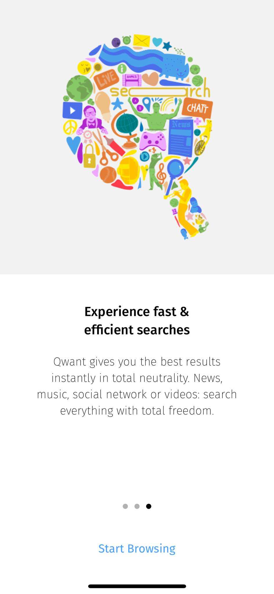 Walkthrough on iOS by Qwant from UIGarage