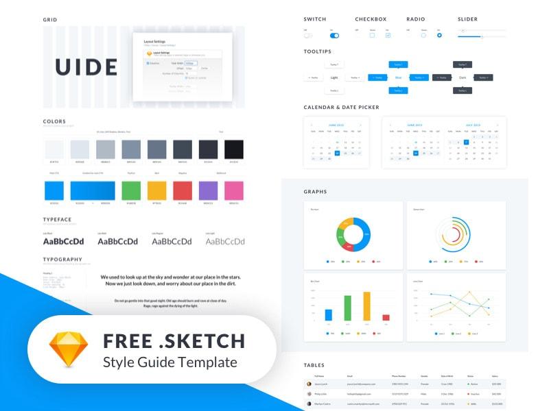 UIDE Style Guide UI Kit , Download Free UI Kit